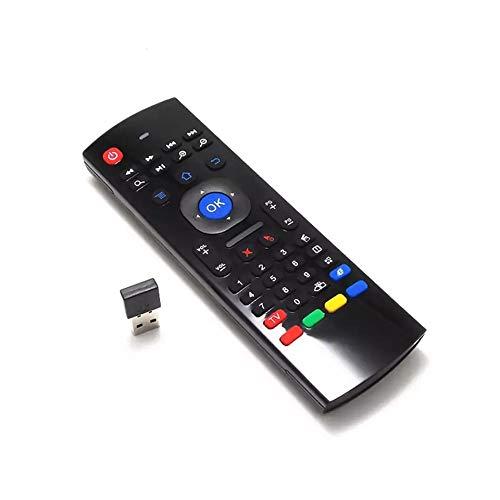 Android TV BOX/UBOX 対応 2.4GHz 無線 エアマウス キーボード付きリモートコントローラー MX3(赤外線リモコン学習機能付き) (MX3 / USBタイプ バックライトなし)