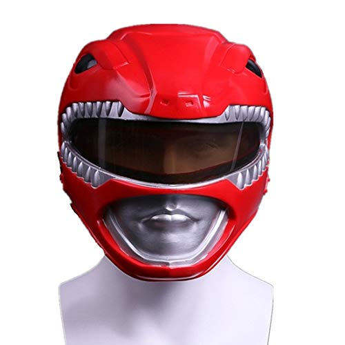 K-Y YK Dinosaur Team Helmet Power Rangers Extraordinary Team Red Warrior Mask Halloween Mask Cosplay Cartoon Character