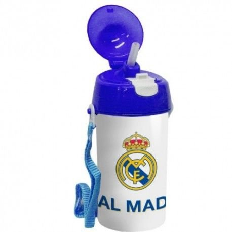Export.CM 052519 Real Madrid - Botella Infantil (500 ml), Color Blanco y Azul