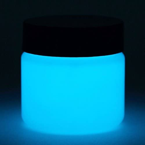 Glow In The Dark Paint - Premium Artist's Acrylic - Neutral Colors - 1 Ounce (Neutral Sky Blue)