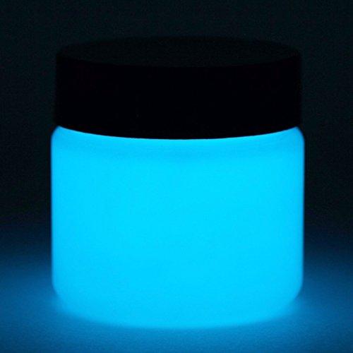 Glow in The Dark Paint - Premium Artist's Acrylic - Neutral Colors - 1 Ounce (Neutral Sky Blue)