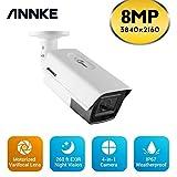 ANNKE 4K 8MP Ultra HD TVI Bullet Cámara de seguridad con zoom óptico 4X de 79,2 m, visión nocturna IP67, resistente a la intemperie, cámaras de interior para CCTV