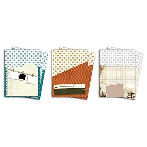 Toga CRN112 Au Jour le Jour Set 6 hoezen van papier, meerkleurig, 9 x 15,5 x 0,5 cm
