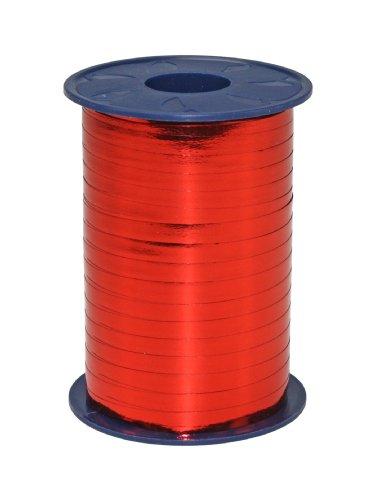 C.E. Pattberg MEXICO Geschenkband metallic rot, 400 m Ringelband zum Einpacken von Geschenken, 5 mm Breite, Zubehör zum Dekorieren & Basteln, Dekoband für Präsente, zu jedem Anlass