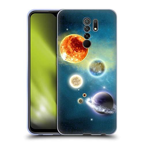 Head Case Designs Licenciado Oficialmente Simone Gatterwe Nuevo Sistema Solar Planetas Carcasa de Gel de Silicona Compatible con Xiaomi Redmi 9