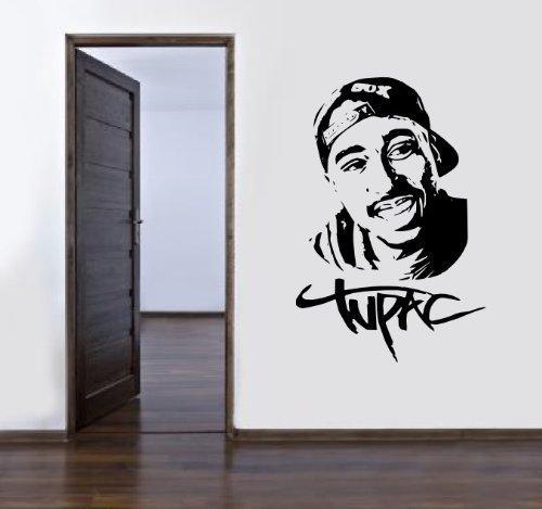 2PAC TUPAC SHAKUR Vinyl Wandkunstaufkleber -16 farben erhältlich & 4 Größen -fms34 - 4 - X Large 100 x 60 cm