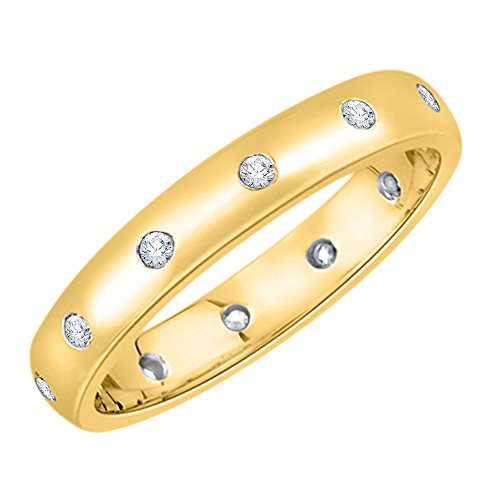 KATARINA Diamond Eternity Band in 14K Yellow Gold (1/8 cttw, G-H, I2-I3) (Size-8.5)
