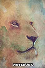 Notebook: Lion Eyes , Journal for Writing, College Ruled Size 6