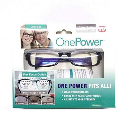 Einstellbare Stärke Linse Lesebrille Kurzsichtigkeit Brillen Variable Fokus Vision Pflege Herren Damen Lesebrillen Adjustable Focus -5.00 to +2.50