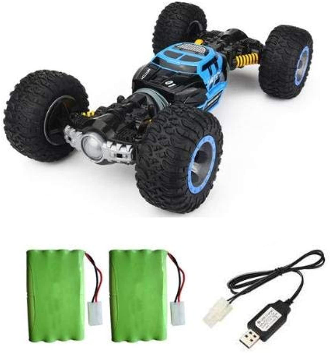 Generic RC Car 1 16 Scale DoubleSided 2.4GHz One Key Transform AllTerrain OffRoad Vehicle Varanid Climbing Truck Remote Control Car bluee 2 Battery