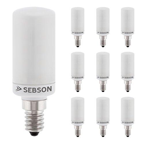 SEBSON LED Lampe E14 warmweiß 4W, ersetzt 40W Glühlampe, 400 Lumen, E14 LED matt, LED Leuchtmittel 160°, 10er Pack
