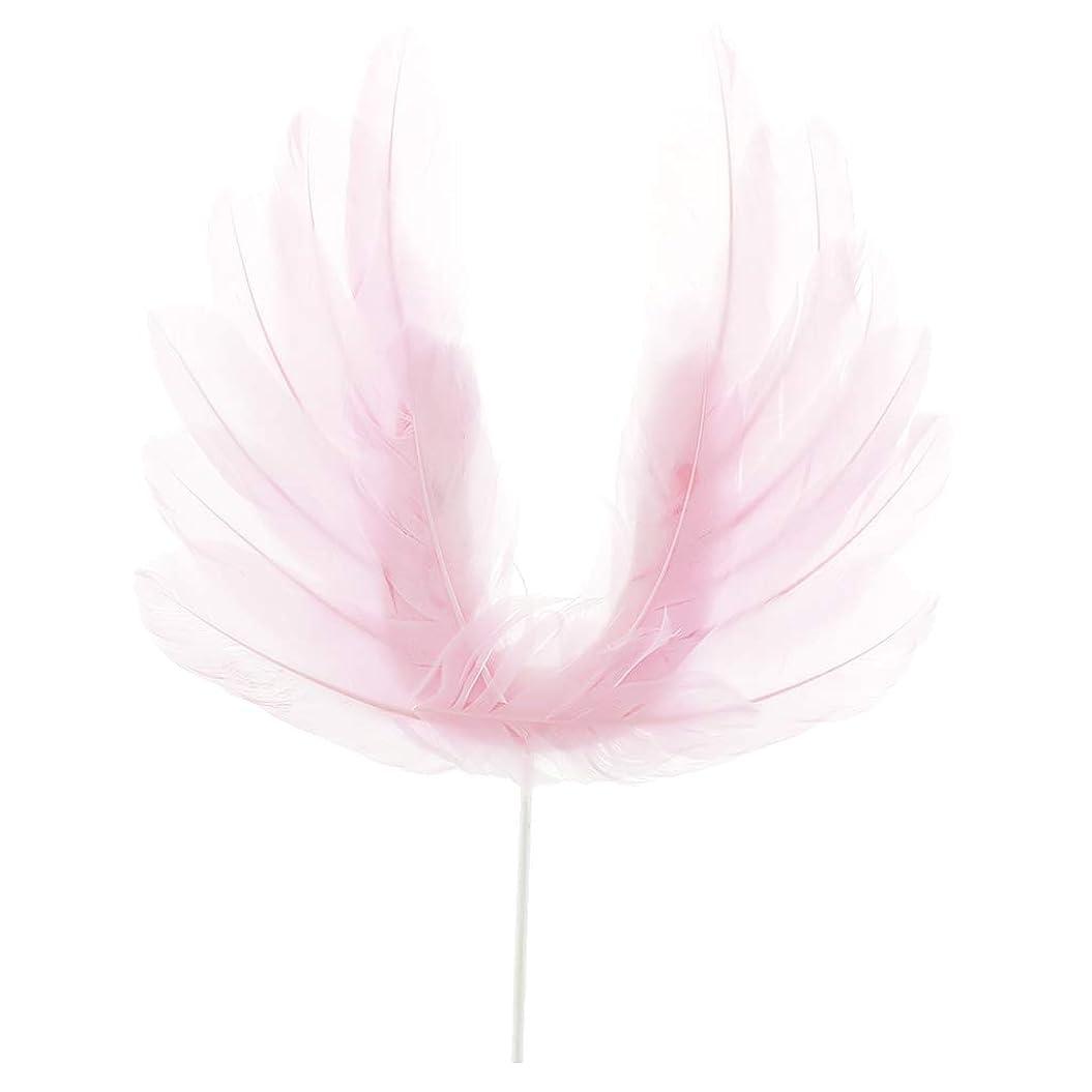 女の子意志幼児Perfeclan ケーキトッパー 誕生日ケーキ 料理飾り カップケーキ 天使の羽 トッパー 3色選べ - ピンク