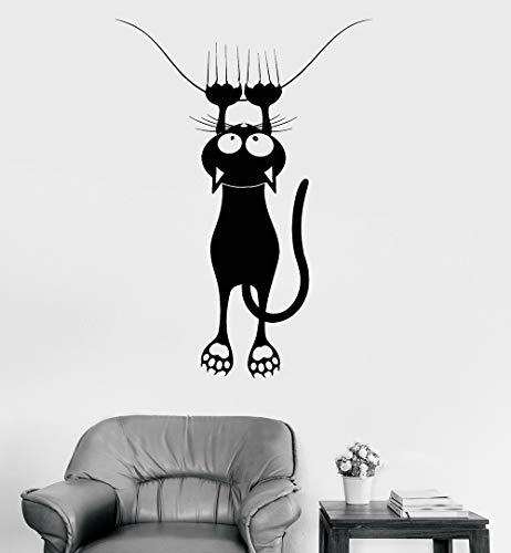 yaonuli Vinyl Aufkleber Wand lustige Katze Tierhandlung Tierklinik dekorative Wandaufkleber Kinderzimmer 57X99cm