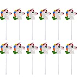 """Kicko 2"""" Head Unicorn Lollipops - Pack of 12 Magical Candy Suckers for Party Favors, Cake Decorations, Novelty Supplies or Treats for Halloween, Christmas, Baby Showers"""