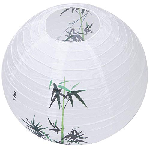 40cm Sombra de lámpara Linterna de Papel Estilo Oriental Decoración Ligera Patrón Chino: Bambú