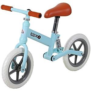 HOMCOM Bicicleta Sin Pedales para Niños Mayores de 2 Años Bicicleta Entrenamiento Equilibrio con Sillín Regulable Acolchado Rueda Antideslizante Carga 25 kg 85x36x54 cm Color Azul
