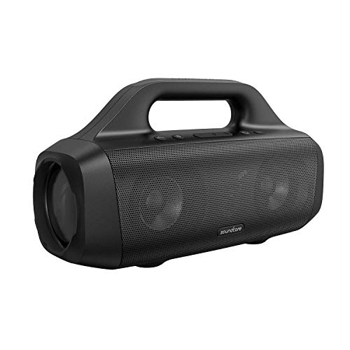 Anker Soundcore Motion Boom Outdoor Speaker with Titanium Drivers, BassUp Technology, IPX7 Waterproof, 24H Playtime, Soundcore App, Built-in Handle, Portable Bluetooth Speaker for Outdoors (Renewed)
