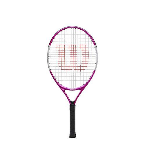 Wilson Tennisschläger Ultra Pink 23, für Kinder im Alter von 7  - 8 Jahre, AirLite-Legierung, rosa/weiß, WR027910U