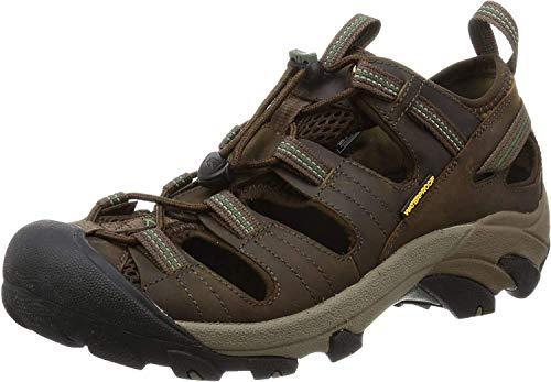 KEEN Men's Arroyo II Hiking Sandal,Slate Black/Bronze Green,10 M US