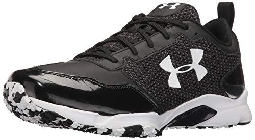 Under Armour Men's Ultimate Turf Trainer Baseball Shoe, Black (001)/Black, 5