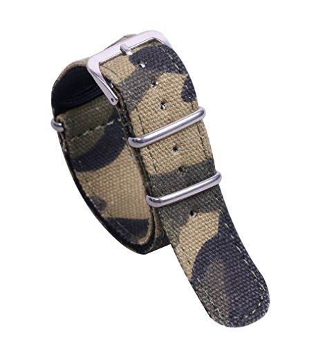 20 millimetri camuffamento di fascia alta delicato stile NATO sostituzione cinghia superiore orologio di nylon banda per gli uomini