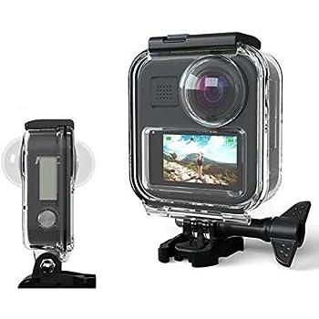 Taoric Custodia Impermeabile Astuccio per Gopro Max Action Camera, Calotta Protettiva Subacquea 30M con Accessori per Staffa