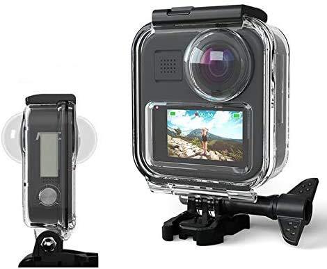 Taoric Wasserdichtes Gehäuse für Gopro Max Action Kamera, Unterwassertauchschutzhülle 30M mit Halterungszubehör