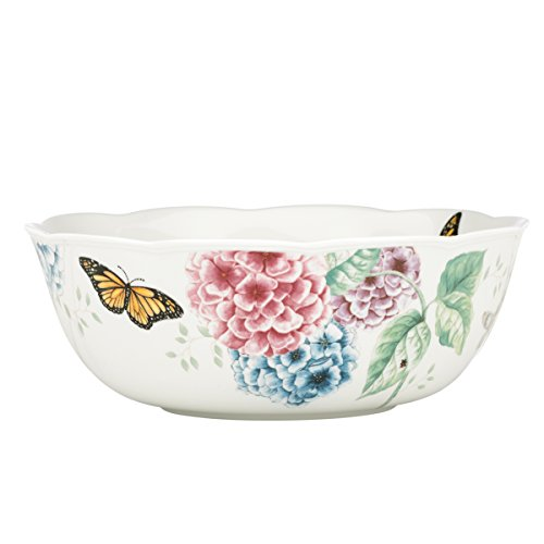 Lenox Butterfly Meadow Hydrangea Large Serve Bowl, 2.7 LB, Multi