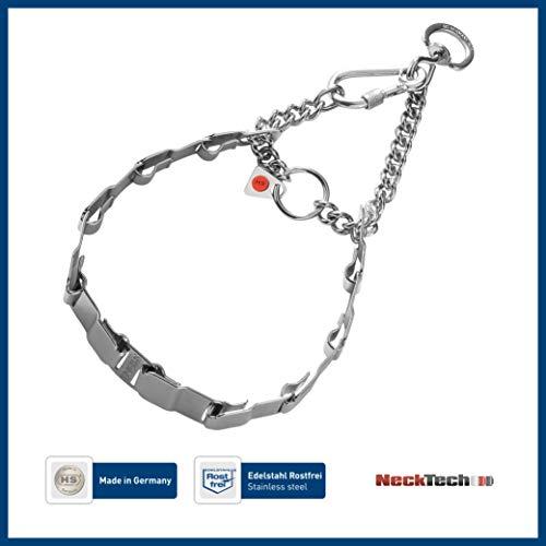 Sprenger Hundehalskette Neck Tech Fun aus Edelstahl mit Durchzugskette und Karabinerhaken I Hundehalsband Flache austauschbare Glieder I hoher, 60cm