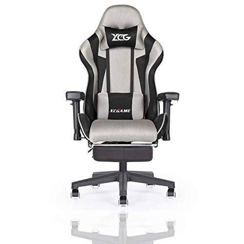 KAYBELE Gaming Chair Ergonomic Home Office Chairs with Massage Lumbar Support, Camouflage Style Armchair PU Leather E-Sports Gamer Chairs with Retractable Footrest (Color : B)