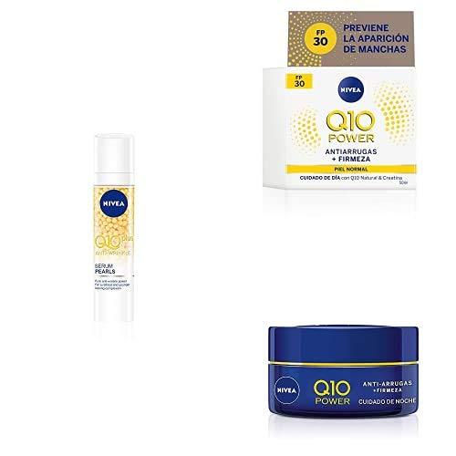 Q10 PLUS Antiarrugas Serum Pearls + Cuidado de día FP 30 + Cuidado de noche