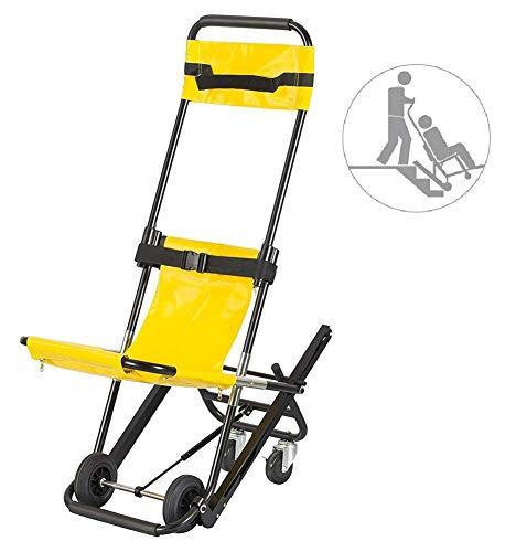 COOYT EMS Treppen Stuhl, Treppensteigen Rollstuhl Medizinischer Aufzug Treppen Lehrstuhl for Krankenwagen Feuerwehrmann Evakuierung Gebrauch, 350 lb, Gelb