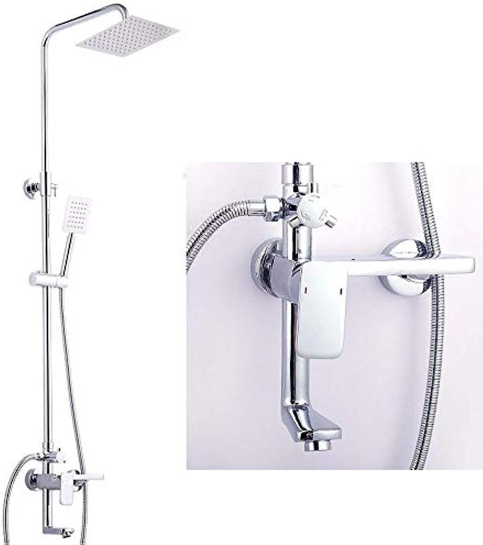 Dusche, Warmes und Kaltes intelligente Wasserhahn Dusche, alle Kupfer Temperatur-Düse, intelligente Badewanne Dusche