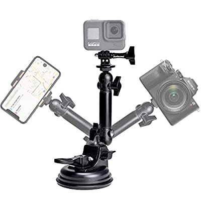 Action Camera Smartphone Suction Cup Race Car Cockpit Mount Motion Camcorder Vehicle Windshied Hood Rooftop Holder for GoPro Sony iPhone Hi-Speed Filming from Fantaseal
