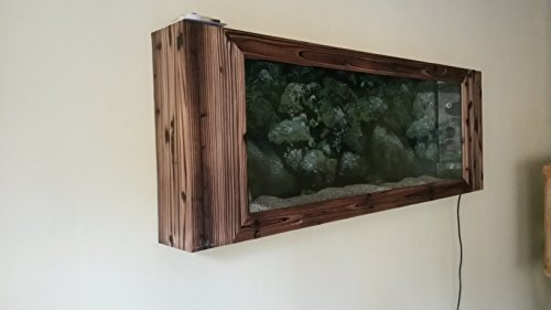 Wandaquarium- Dark Wood 160, Panorama Aquarium – Wall Aquarium - 4