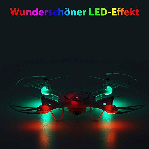 X5UC PRO Edition mit HD-Kamera - 4.5-Kanal Ferngesteuerter Quadrocopter 3D Drohne, Auto Abheben/Landen, Rückholmodus, Headless und viele weitere Funktionen, Crash-Kit, Neu OVP