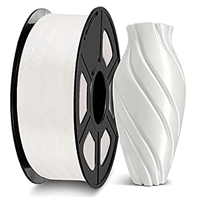 3D Printer PLA Filament 1.75, JAYO White PLA Filament 1.75mm, Fit FDM 3D Printer, 1KG Spool, PLA White