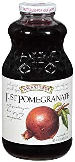 RW Knudsen Just Pomegranate Juice, 100% Juice, 32-ounce (Pack of 6) by R.W. Knudsen