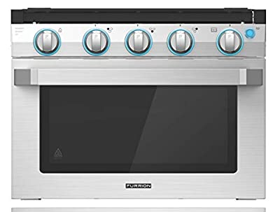 "Furrion 17"" 2-in-1 Gas Range Oven with 3-Burner Cooktop for RV, Camper, or Trailers. Includes multiple safety features with a sleek easy-to-clean design - FSRE17SA-SS"