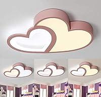 シーリングライトLEDバスルームキッチンベッドルームLEDシーリングライトシーリングランプDighmableモダンハート形子供用ランプリモコン極薄デザインアクリル寝室リビングルームダイニングルームオフィスライト子供部屋の天井照明ピンク