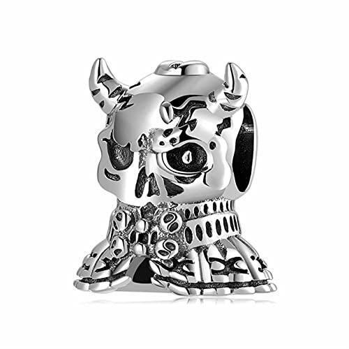 Colgante de Encanto de Rana Oso Animal violento de Plata de Estilo gótico se Adapta a la Pulsera de dijes Europen Originales fabricación de Joyas DIY