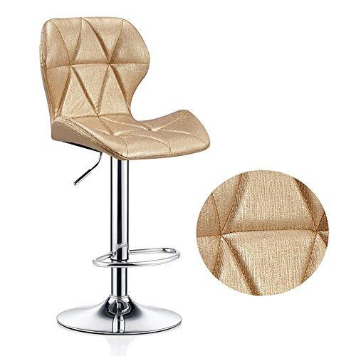Cylficl Frühstück sichel Stuhl Stühle höhenverstellbar Rückenlehne stark basische Chromplatte for eine Küche 120Kg maximale Last bar (Color : Golden)