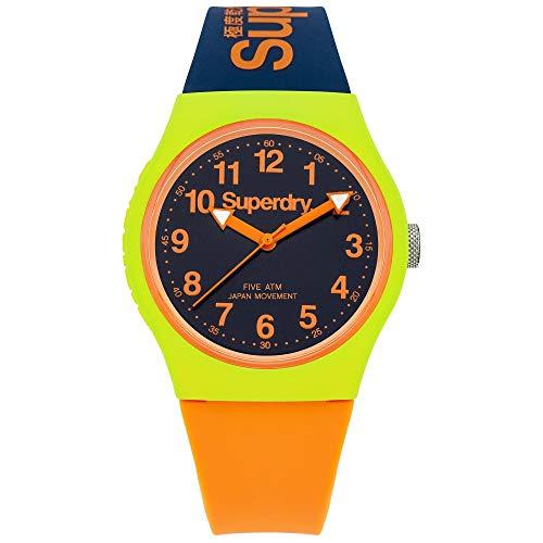 Superdry Herren Analog Quarz Uhr mit Silicone Armband SYG164MU