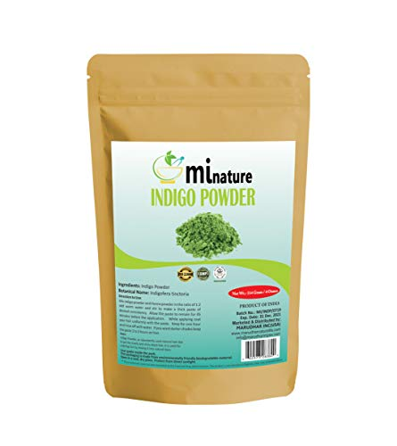 Natural Indigo Powder -Indigofera Tinctoria, Rajasthani Indigo Powder for hair dye, Natural hair color by mi nature