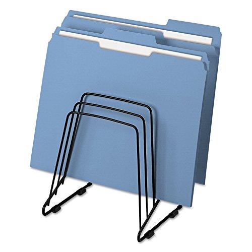 Fellowes 69712 Wire Step File II, 5 Comp, Steel, 7 1/4 x 6 x 8 1/4, Black