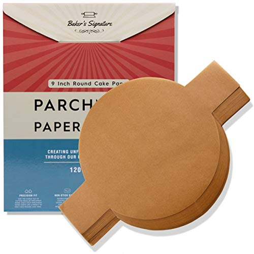 Precut Parchment 9-Inch Rounds with Tabs, Pack of 120