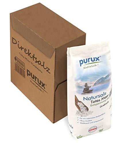 purux Totes Meer Salz Direktsalz 1kg Badesalz absolut naturbelassen