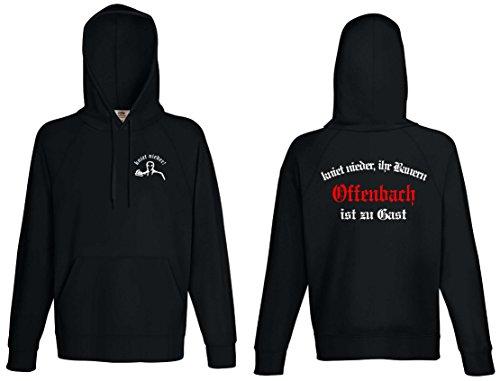 World of Shirt Herren Kapuzensweat Offenbach Ultras kniet nieder