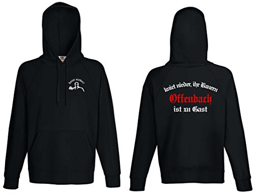 world-of-shirt Herren Kapuzensweat Offenbach Ultras kniet nieder