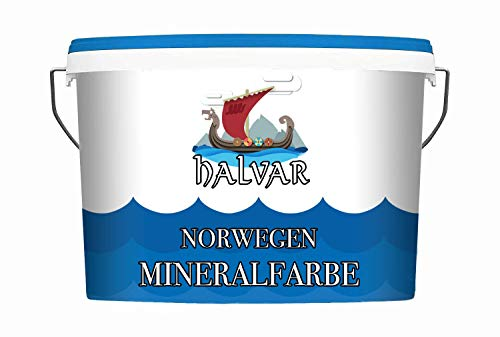 Halvar Norwegen Silikatfarbe weiß - Mineralfarbe matt Dispersionssilikatfarbe (10 L)